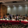 The October 12 orchestra rehearses The Majesty and Glory of Your Name at the Forest Lake Academy music department. Leon Hauck directing.